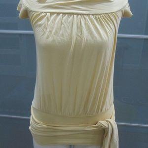 Susana Monaco Tie at Hem Stretch Blouse Size S